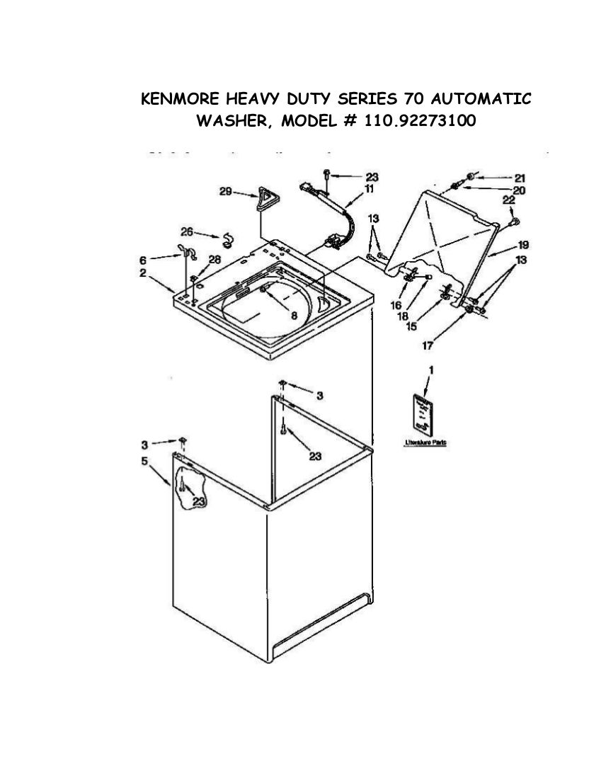 Amazing Wiring Diagram For 70 Series Kenmore Washer Auto Electrical Wiring Wiring Cloud Licukaidewilluminateatxorg