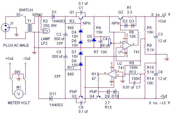 Terrific 0 15 Volt Tracking Power Supply Wiring Cloud Eachirenstrafr09Org
