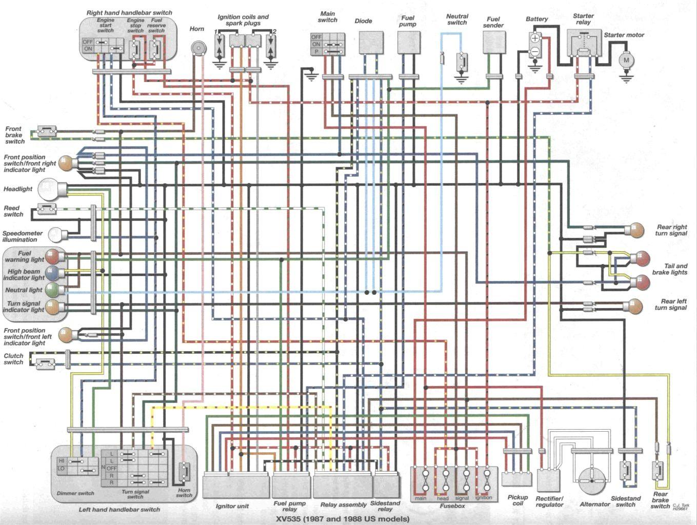TL_0448] Wiring Diagram Virago 535Monoc Isra Mohammedshrine Librar Wiring 101