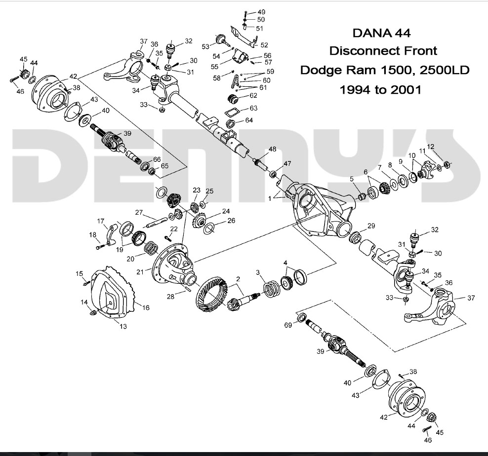 Excellent Dodge Dana 44 Disconnect Front Axle Parts For 94 To 02 Dodge Ram 4X4 Wiring Cloud Counpengheilarigresichrocarnosporgarnagrebsunhorelemohammedshrineorg