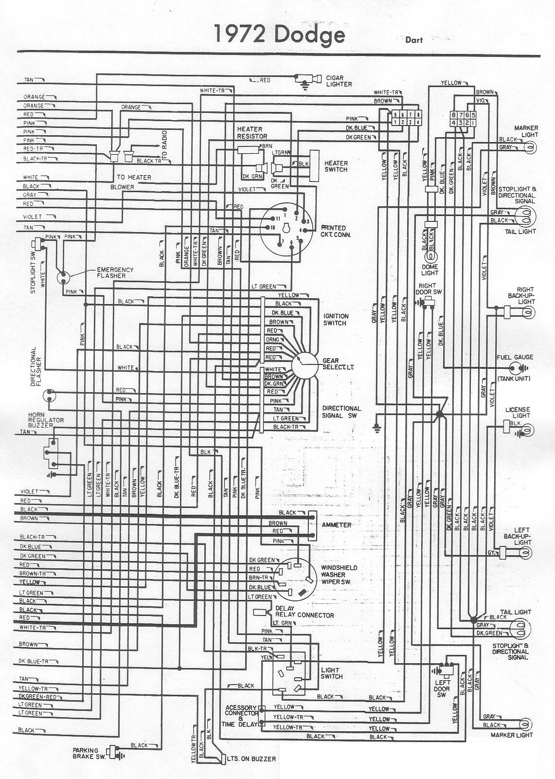 Hd 7604 1972 Dodge Van Wiring Diagram Schematic Wiring