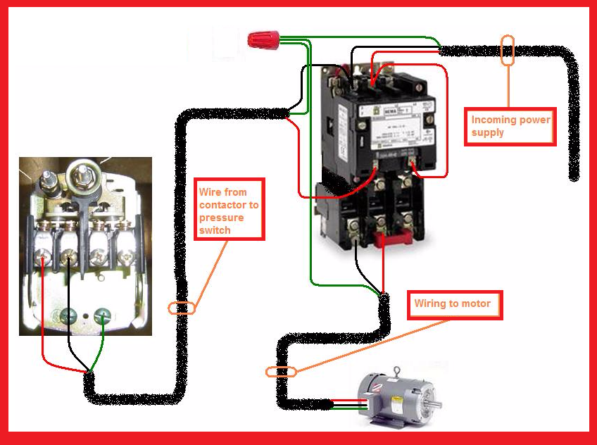 Pleasing Single Phase Motor Contactor Wiring Diagram Elec Eng World Wiring Cloud Unhoicandsaprexeroixtuhyedimohammedshrineorg