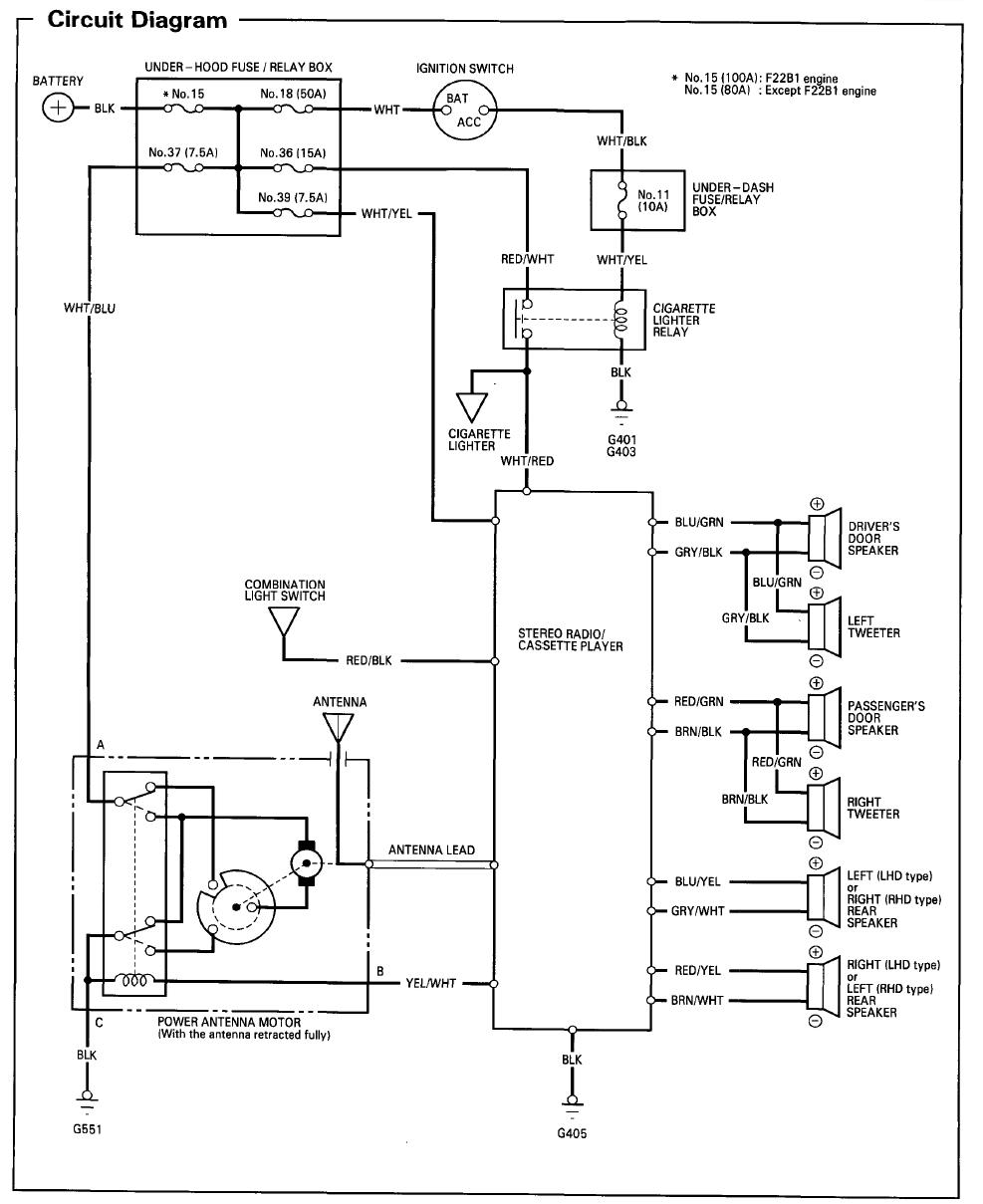 2002 Honda Accord Wiring Diagram Stereo