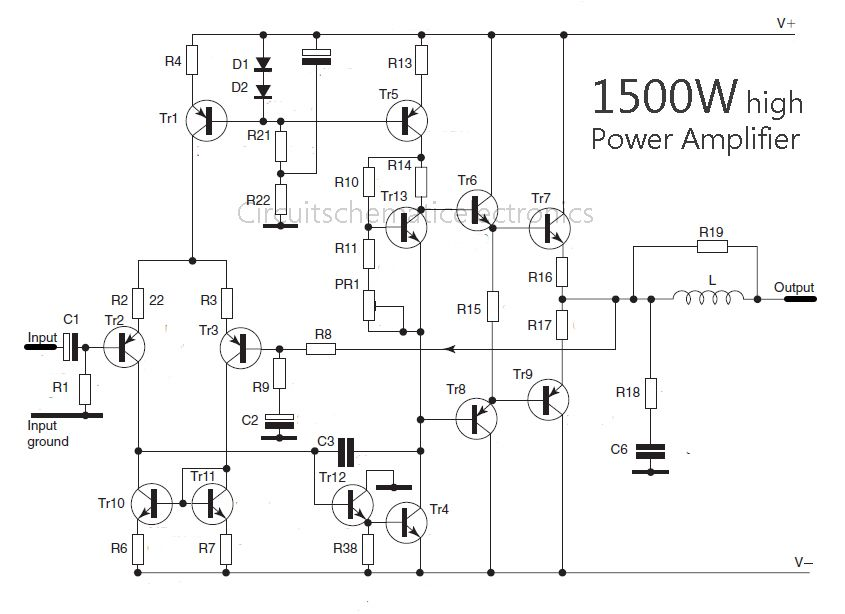 Admirable Power Amplifier Schematic Diagram Carbonvote Mudit Blog Wiring Cloud Overrenstrafr09Org