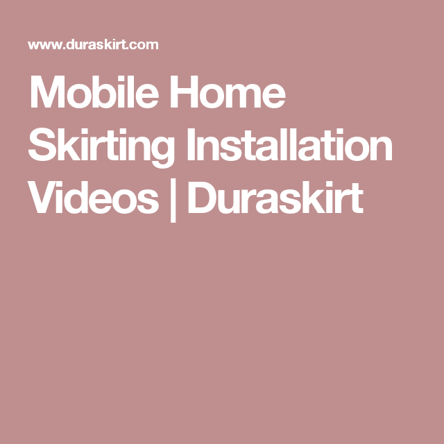 Incredible Mobile Home Skirting Installation Videos Duraskirt Home Mobile Wiring Cloud Faunaidewilluminateatxorg