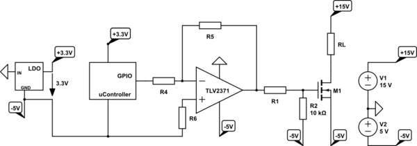 Groovy Operational Amplifier Driving An N Channel Mosfet With Wiring Cloud Intelaidewilluminateatxorg