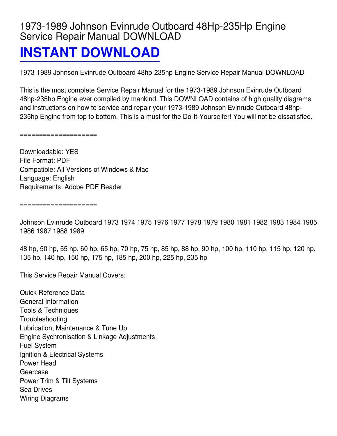 Mh 0344 1989 70 Hp Evinrude Wiring Diagram Download Diagram