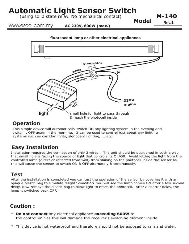 hy9500 automatic light sensor circuit download diagram