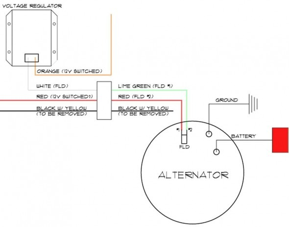 Delco Alternator Wiring Diagram External Regulator