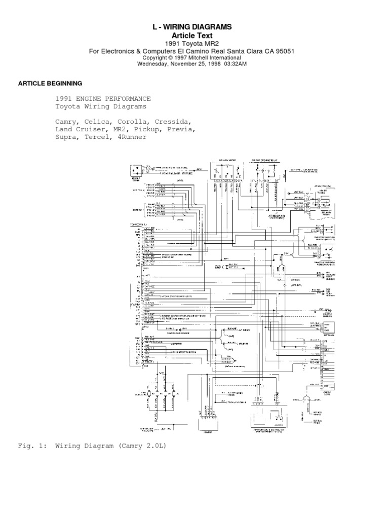 Amazing All Model Toyotas Engine Wiring Diagrams Vehicle Technology 4 9K Wiring Cloud Eachirenstrafr09Org