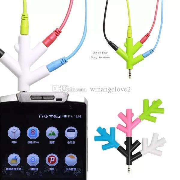 Swell 3 5Mm 4 Way Port Aux Multi Headphone Earphone Audio Splitter Lead Wiring Cloud Uslyletkolfr09Org