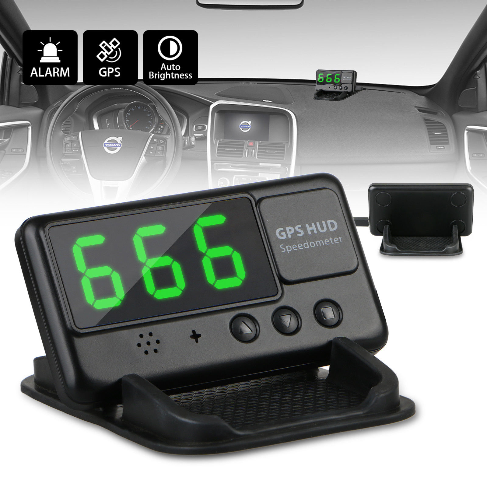 Awesome Universal Car Hud Head Up Display Gps Mph Km H Plug Speedometer Wiring Cloud Rometaidewilluminateatxorg