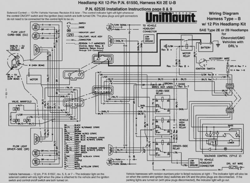 western 12 pin wiring diagram  chevy solenoid wiring