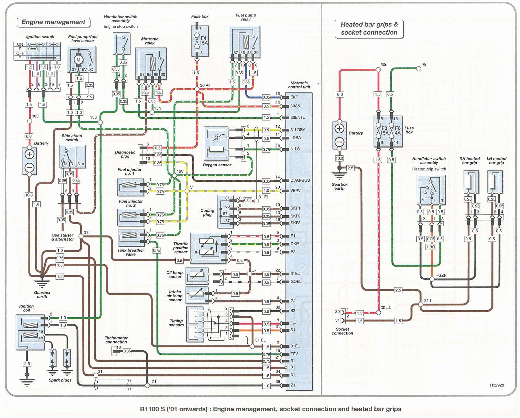 Triumph 750 Bonneville Color Wiring Diagram 11x17