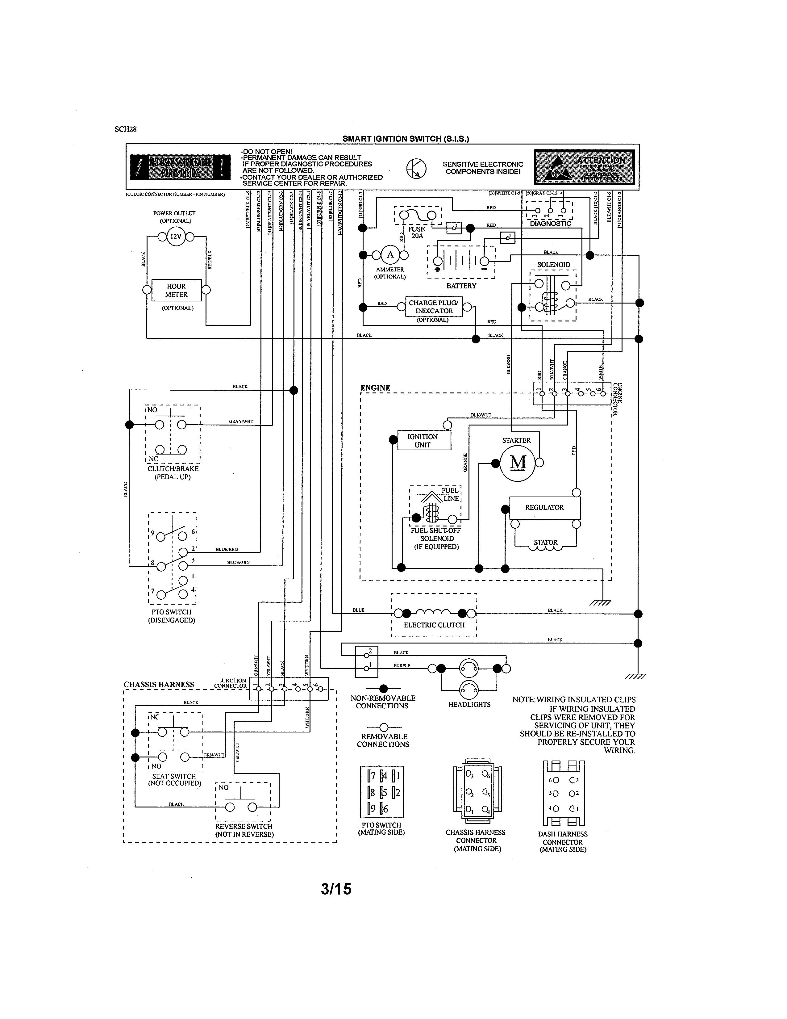 Craftsman Garden Tractor 954140005 Wiring Diagram John Deere 1530 Wiring Diagram For Wiring Diagram Schematics