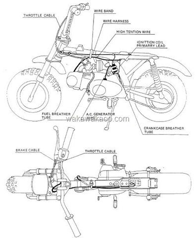 ys_9192] honda motorcycle parts 1977 cb400f a wire harness frame diagram  www mohammedshrine librar wiring 101