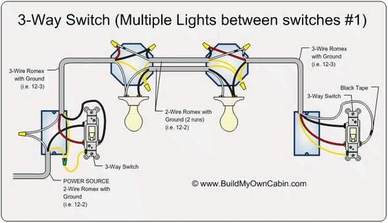 Ya 6348 Way Switch Wiring Lights Between Switches Wiring Diagram