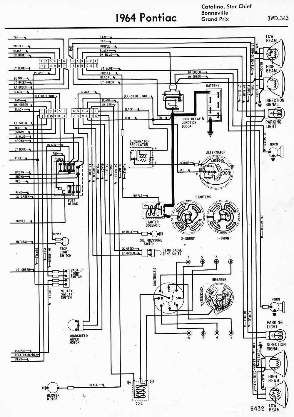XM_0173] 92 Pontiac Bonneville Parts Fuse Box Schematic Wiring