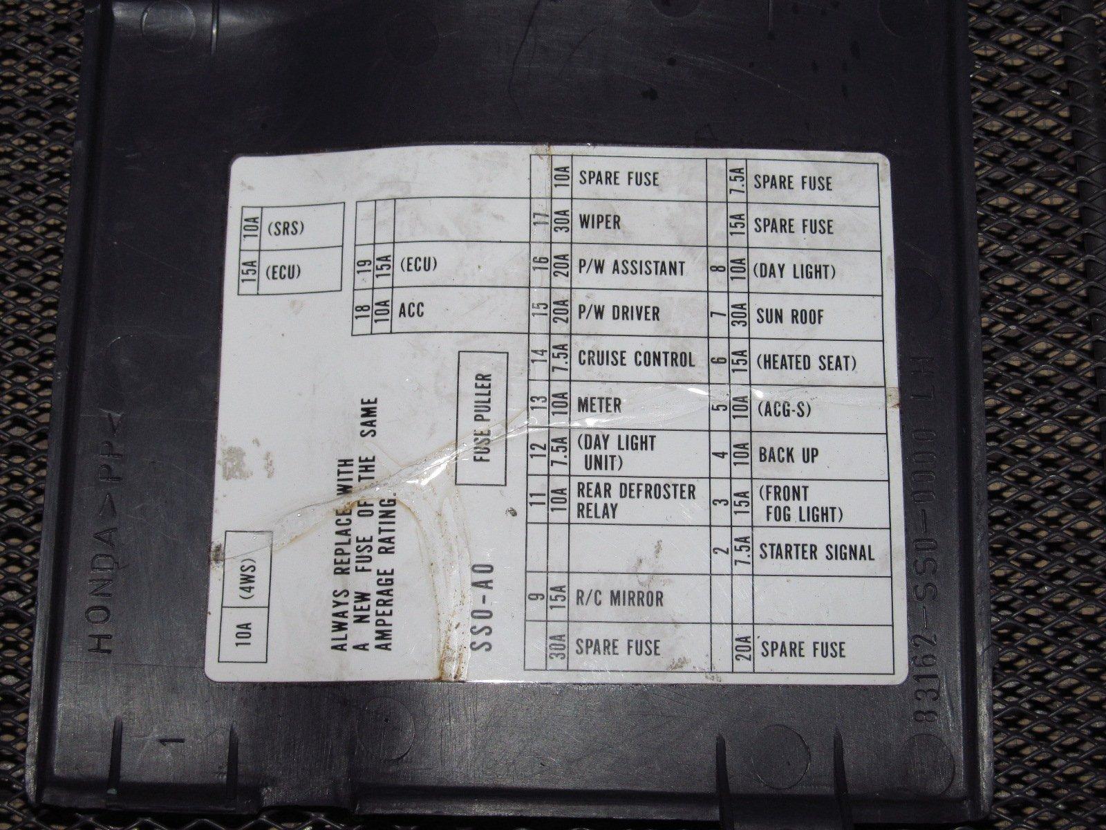 95 Prelude Fuse Box - wiring diagram sockets-person -  sockets-person.eugeniovazzano.it | 97 Prelude Fuse Box |  | Eugenio Vazzano