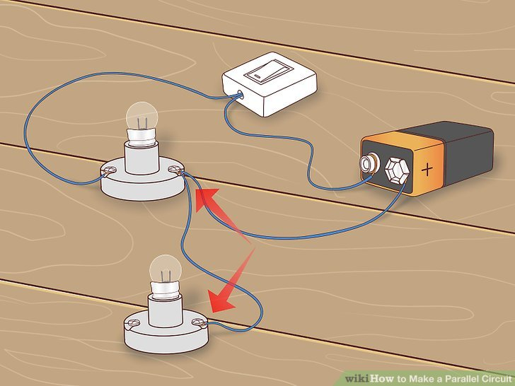 Wondrous How To Make A Parallel Circuit With Pictures Wikihow Wiring Cloud Licukshollocom