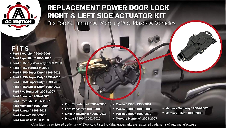 Power Door Lock Actuator Bracket Front Driver Side Left Lh For Expedition F150 Ebay