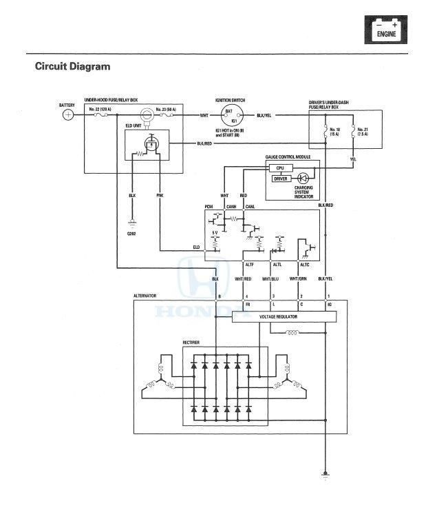 Fine 2006 Odyssey Replacement Alternator Malfunctions Like Old One Wiring Cloud Hemtshollocom