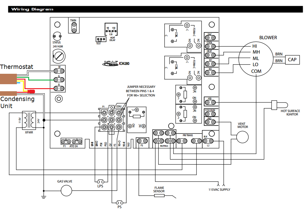 Outstanding Electric Furnace Wiring Diagrams Likewise Gas Furnace Control Board Wiring Cloud Ostrrenstrafr09Org