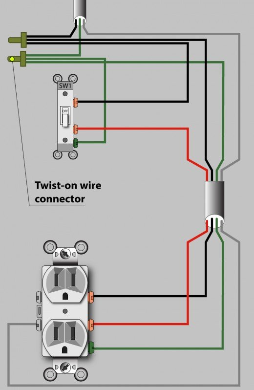 Awesome How To Wire An Outlet To A Switch Diagram Basic Electronics Wiring Wiring Cloud Faunaidewilluminateatxorg