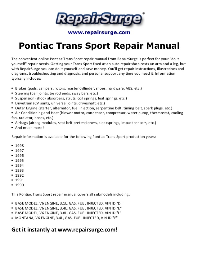 1997 Pontiac Trans Sport Engine Diagram Wiring Diagram Short Central Short Central Gobep It