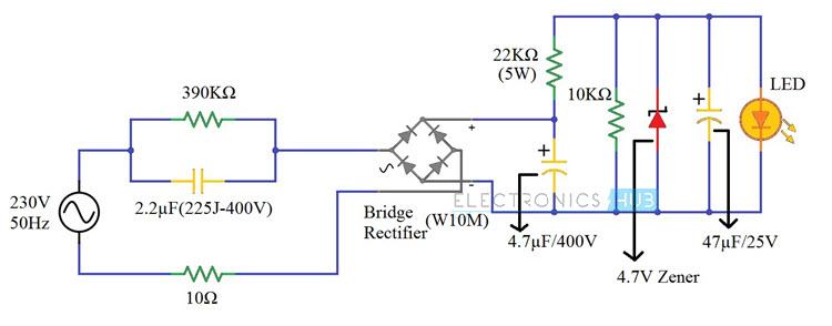 Awesome 230V Led Driver Circuit Diagram Working And Applications Wiring Cloud Histehirlexornumapkesianilluminateatxorg
