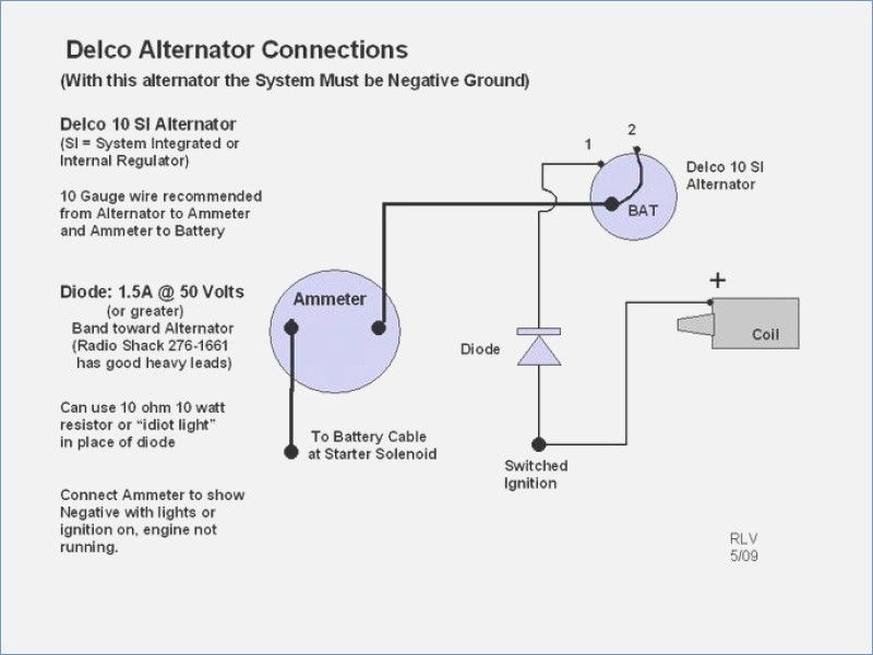 Kz 0577 Alternator Wiring Diagram On Delco 1 Wire Alternator Wiring Diagram Download Diagram