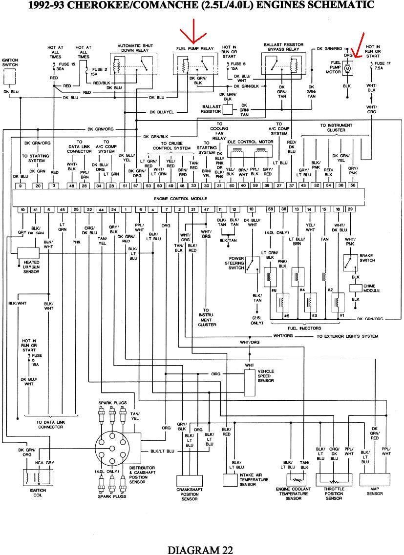 93 Yj Fuel Pump Wiring Diagram - Wiring Diagram