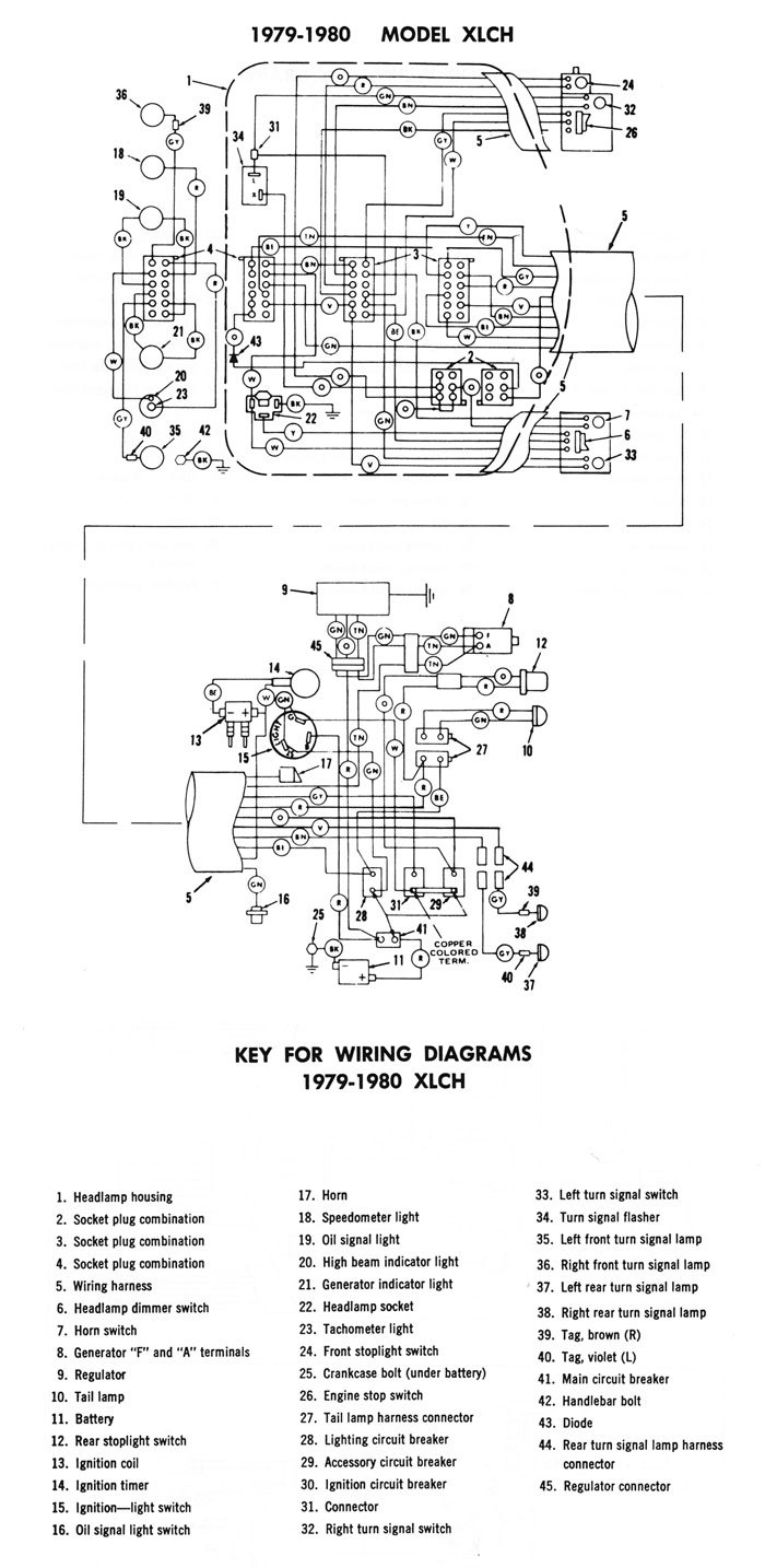 1979 Flh Wiring Diagram - Wiring Diagram