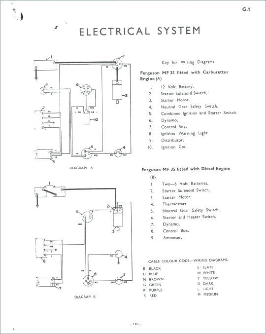 VV_8896] Massey Ferguson Tractor Starter Wiring Schematic Wiring