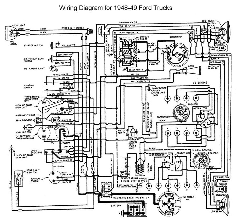 Fabulous Wiring For 1948 To 49 Ford Trucks Ford Trucks 48 52 Ford Wiring Cloud Xempagosophoxytasticioscodnessplanboapumohammedshrineorg