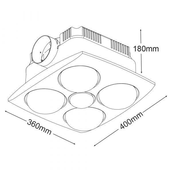 Martec Bathroom Heater - Image of Bathroom and ClosetImage of Bathroom and Closet