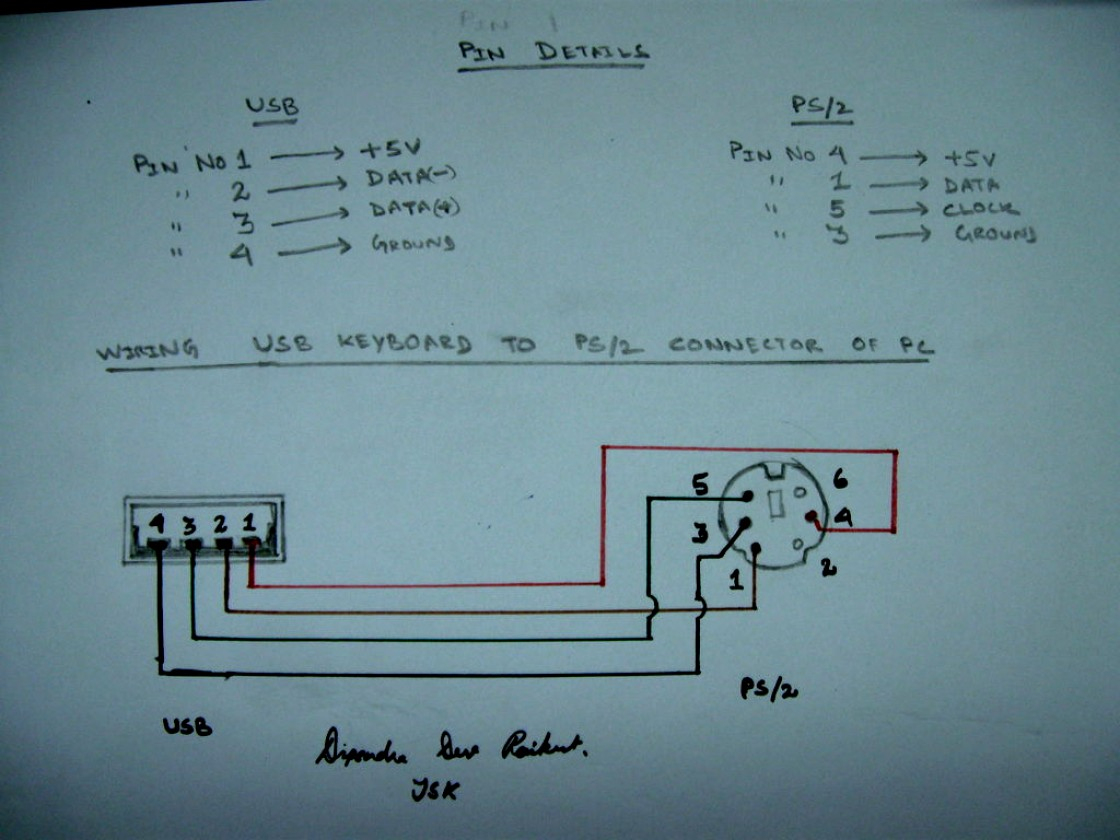 Ps2 To Usb Wiring Schematic