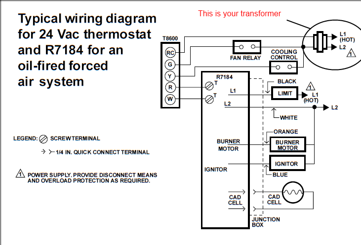 ts7658 honeywell oil furnace wiring diagram schematic wiring
