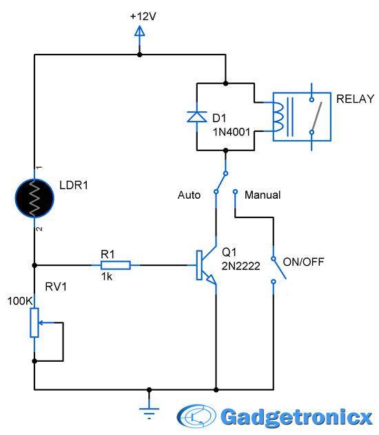Excellent Parking Lights Circuit Electronic Circuits Electronics Ldr Wiring Cloud Filiciilluminateatxorg