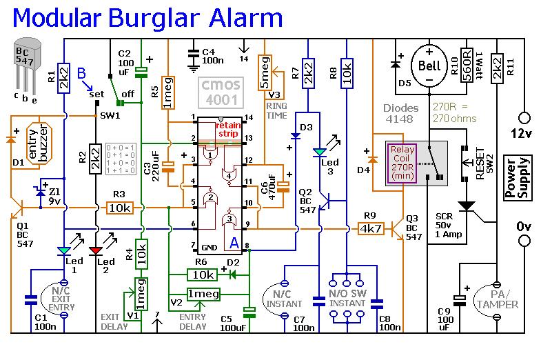 Magnificent An Expandable Multi Zone Modular Burglar Alarm Circuit Diagram And Wiring Cloud Biosomenaidewilluminateatxorg