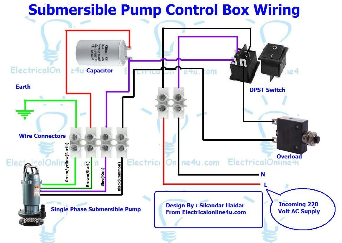 Fantastic Submersible Pump Control Box Wiring Diagram For 3 Wire Single Phase Wiring Cloud Rometaidewilluminateatxorg