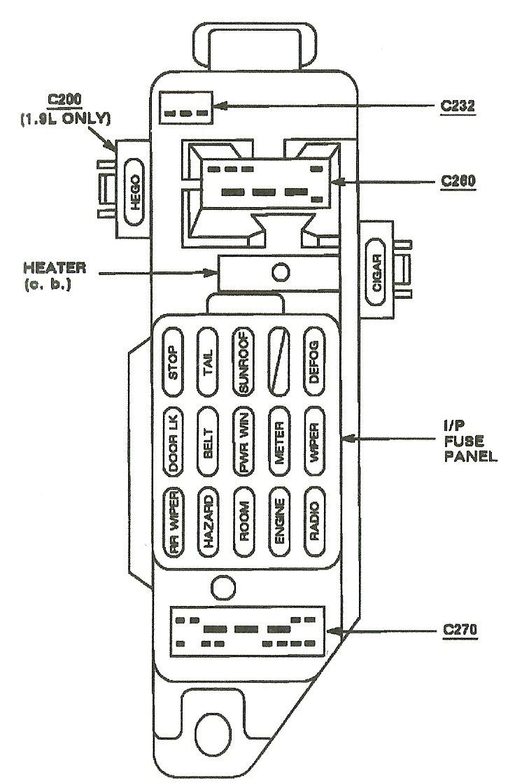 [DHAV_9290]  Mercury Capri Fuse Box - Wiring Diagrams | 1991 Mercury Capri Fuse Box Diagram |  | 18.e13.lesvignoblesguimberteau.fr