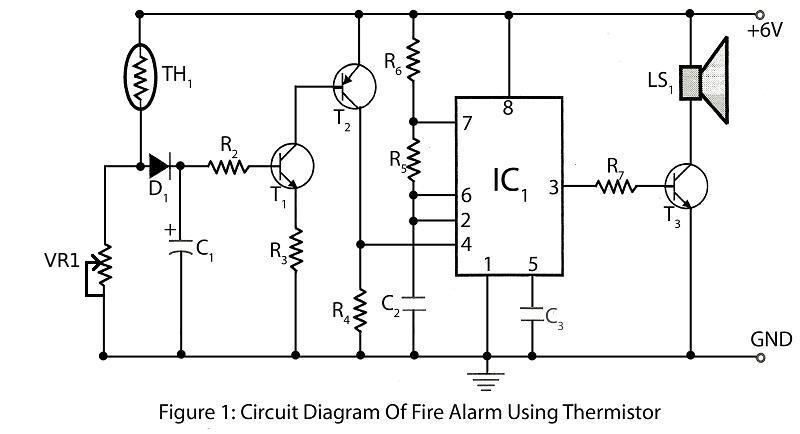 Excellent Fire Alarm Using Thermistor Electronics Project Wiring Cloud Ittabpendurdonanfuldomelitekicepsianuembamohammedshrineorg