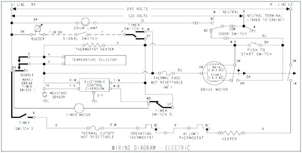Kenmore 80 Series Dryer Wiring Diagram