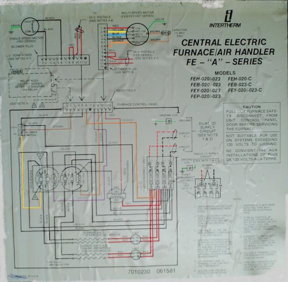 wiring diagram for intertherm furnace pt cruiser starter