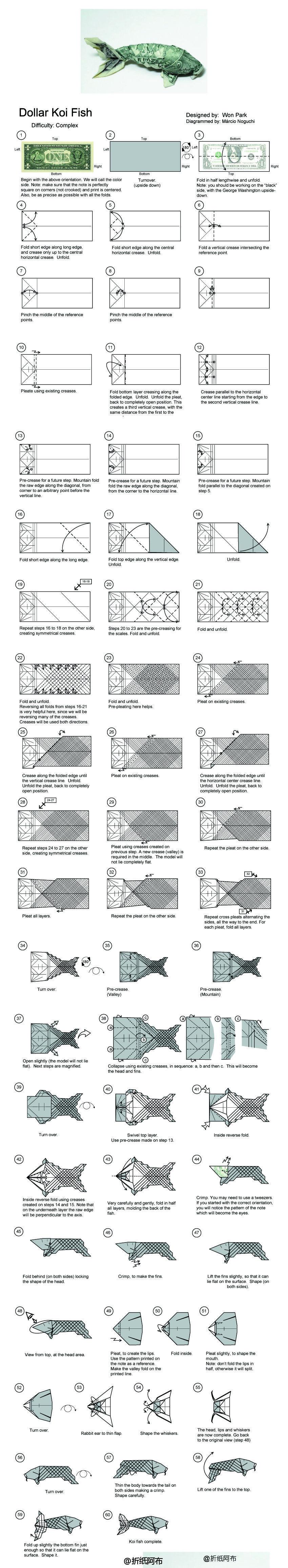 origami fish koi | how to make origami fish koi – Pet Lovers News | 4615x850