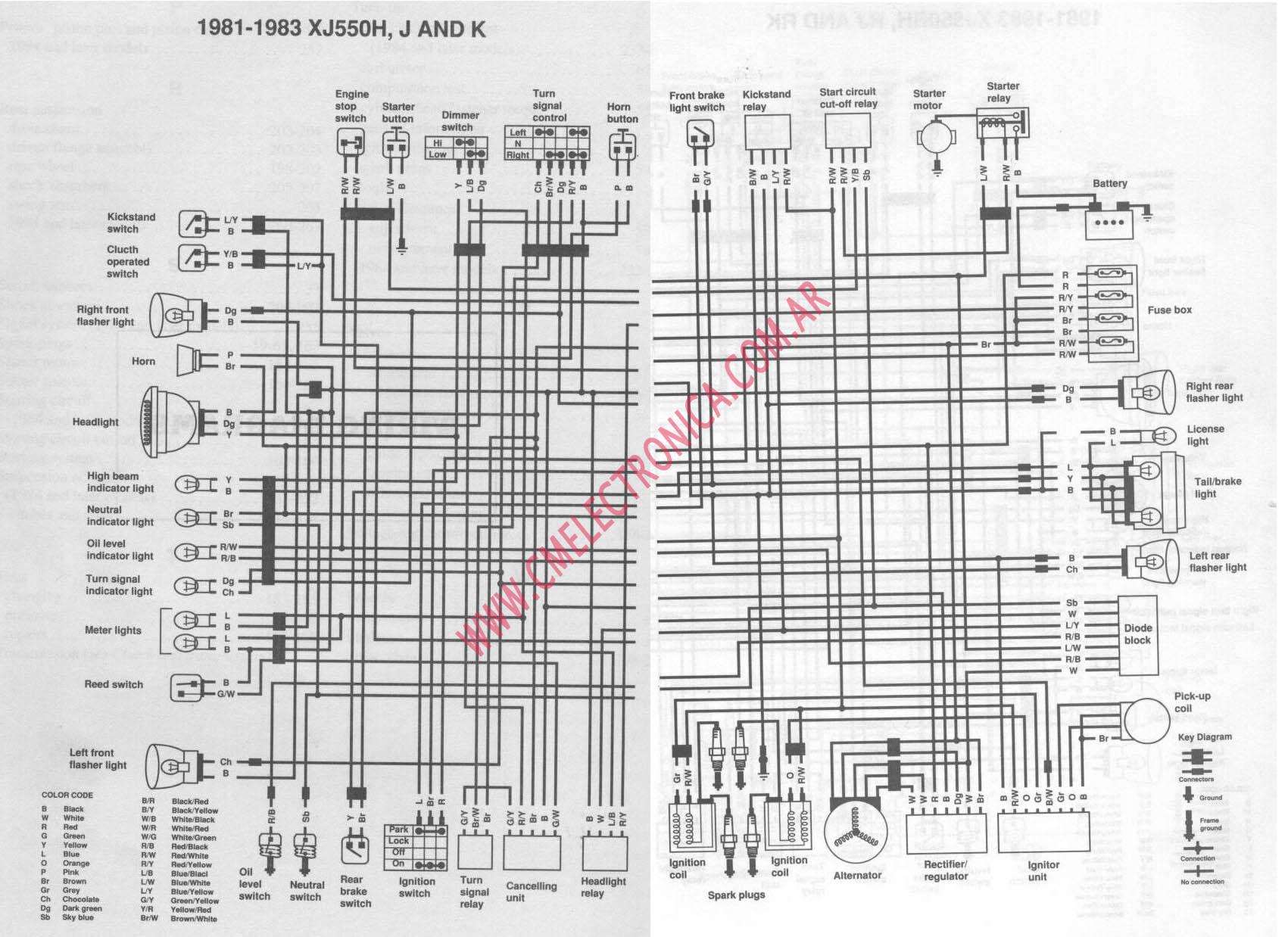 Yamaha Maxim 750 Wiring Diagram