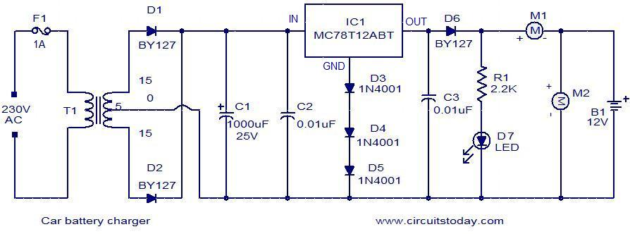 Marvelous Car Battery Charger Electronic Circuits And Diagrams Electronic Wiring Cloud Monangrecoveryedborg