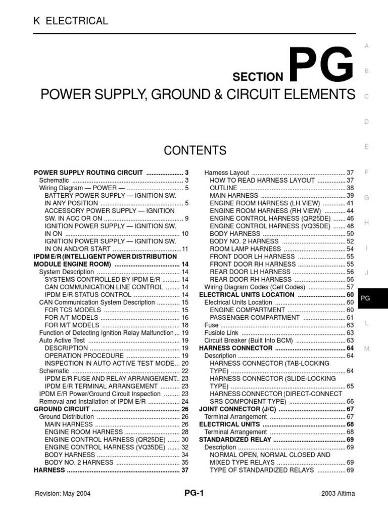 Tg 3778 Nissan Altima 2003 Fuse Box Free Diagram