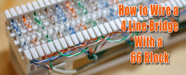 Brilliant How To Wire A 4 Line Bridge With A 66 Block Wiring Cloud Rineaidewilluminateatxorg